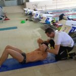 Schwimmtraining mit dem Nationalteam