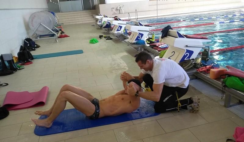 Schwimmtraining mit dem Nationalteam