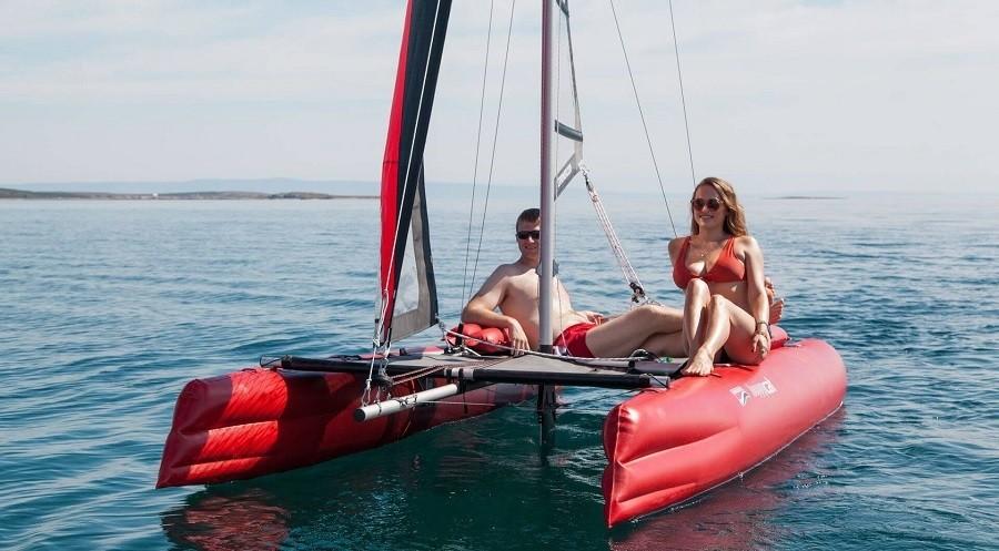 Bootstest Chiemsee – Schlauchboote und Segelkatamarane