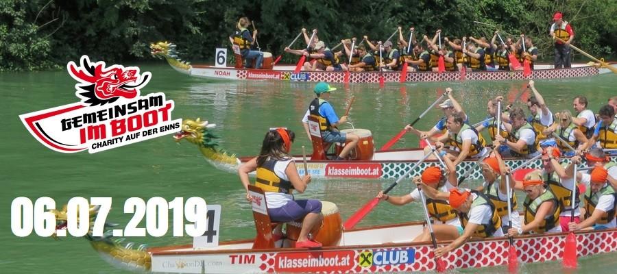 Drachenbootrennen – Charity auf der Enns