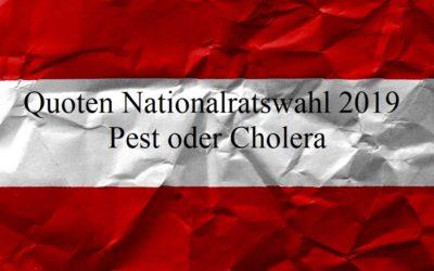 Quoten Nationalratswahl 2019 – Pest oder Cholera