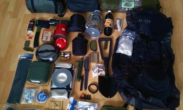 Notfallrucksack oder Camping Equipment